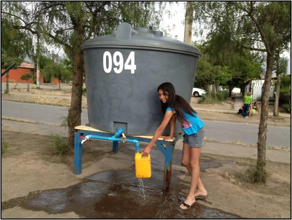 Andes on line municipio de calle larga presentar for Estanque de agua potable easy
