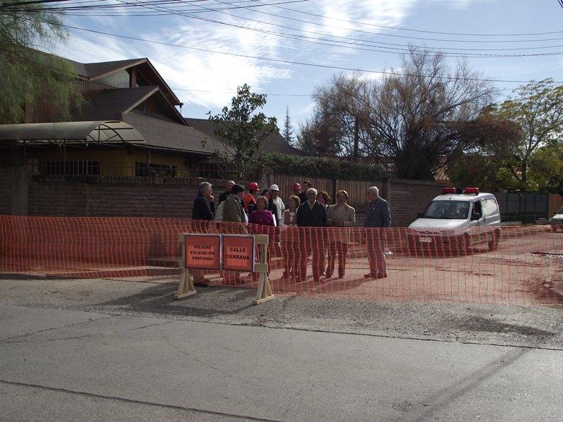 Andes on line comienzan trabajos de pavimentaci n de for Calle mistral